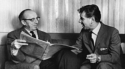 Aaron Copland y Leonard Bernstein