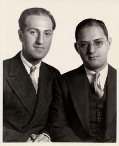 George Gershwin y su hermano Ira Gershwin
