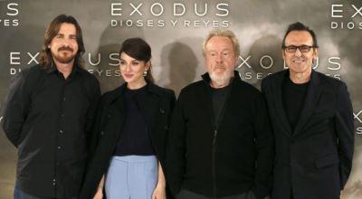 Alberto Iglesias con Ridley Scott y los actores