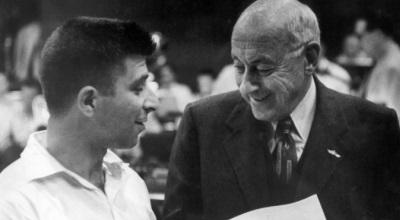 Elmer Bernstein y Cecil B. DeMille