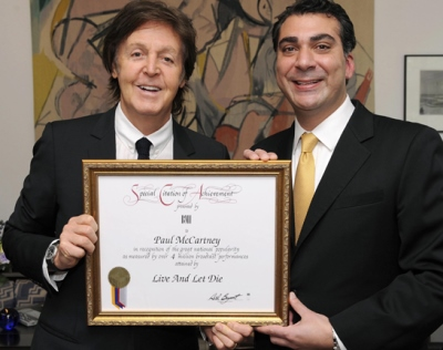 Premio BMI a Paul McCartney