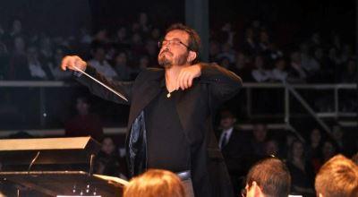 Roque Baños con la orquesta