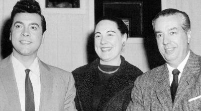 Mario Lanza,Renata Tebaldi y Ray Heindorf