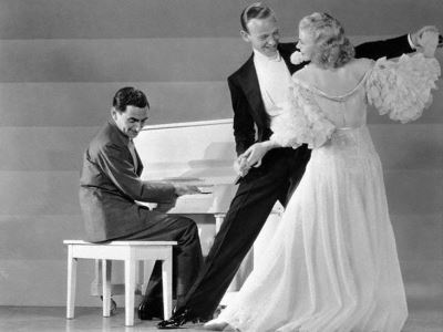Irving Berlin con Fred Astaire y Ginger Rogers