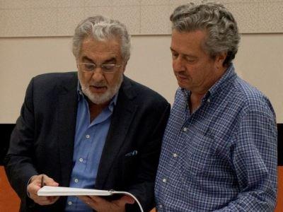 Lee Holdridge y Plácido Domingo
