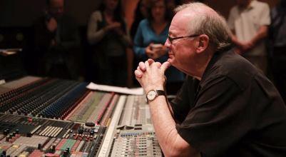 Patrick Williams en el estudio de grabacion