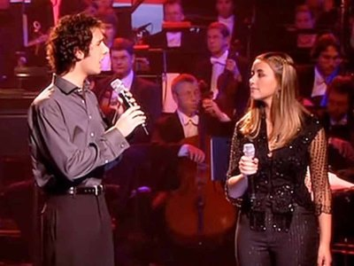 Josh Groban y Charlotte Church