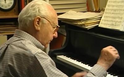 David Raksin al piano