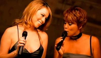 Whitney Houston y Mariah Carey