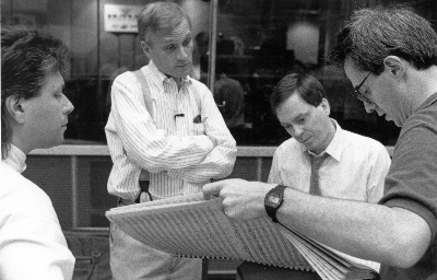 Alan Menken, Howard Ashman, Danny Troob y David Friedman