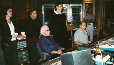 Jerry Goldsmith en estudio de grabacion