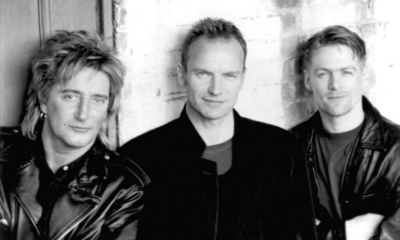 Bryan Adams con Sting y Rod Stewart