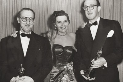 Ray Evans, Jane Russell y Jay Livingston