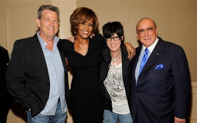 Whitney Houston, David Foster, Diane Warren y Clive Davis