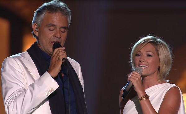 Andrea Bocelli y Helene Fischer