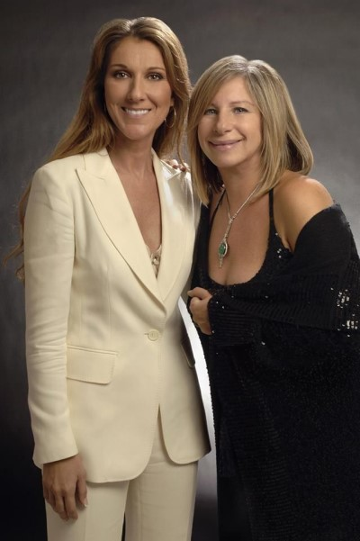 Barbra Streisand and Celine Dion