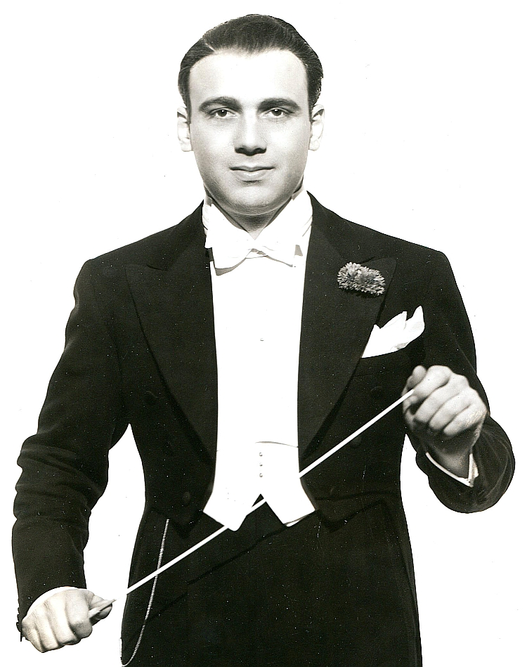 Composer/conductor Johnny Green, 1936